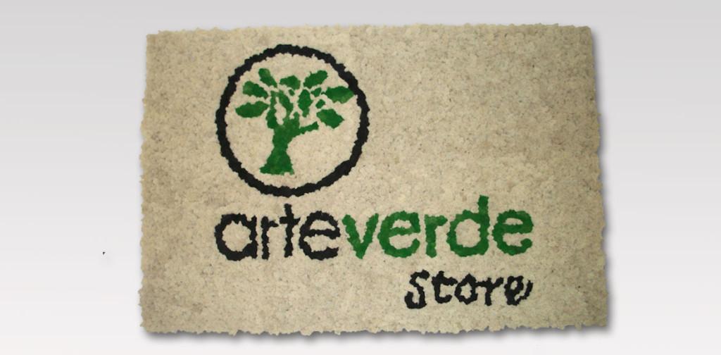 logo aziendale realizzato con lichene stabilizzato