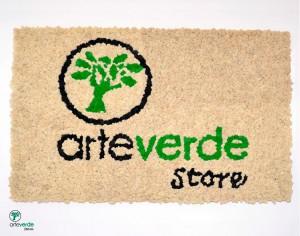 logo realizzato in lichene stabilizzato