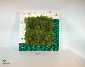 quadro lichene 30x30 cornice in mosaico