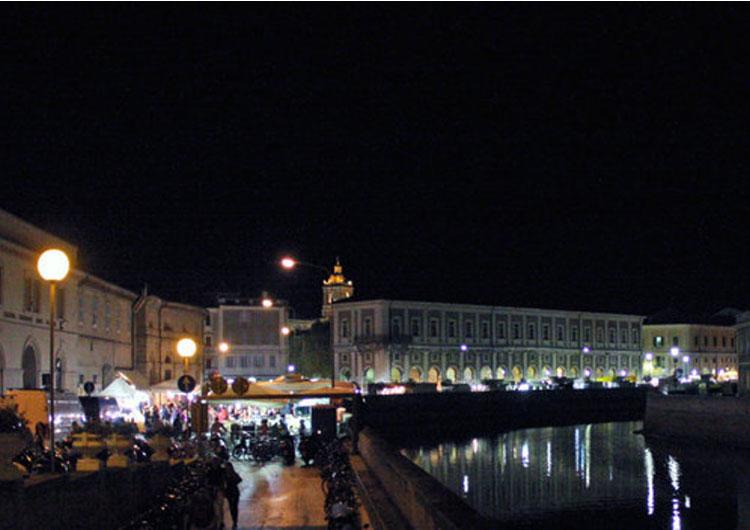 Fiera Senigallia di notte